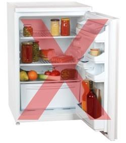 never store vaccines in a domestic fridge